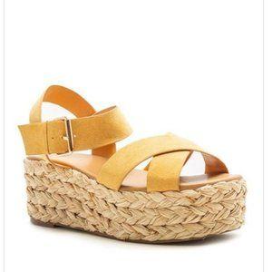 *New Arrival* Light Tan Espadrille Platform Sandal